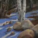"Winter Shadows 11"" x14""Oil$325"